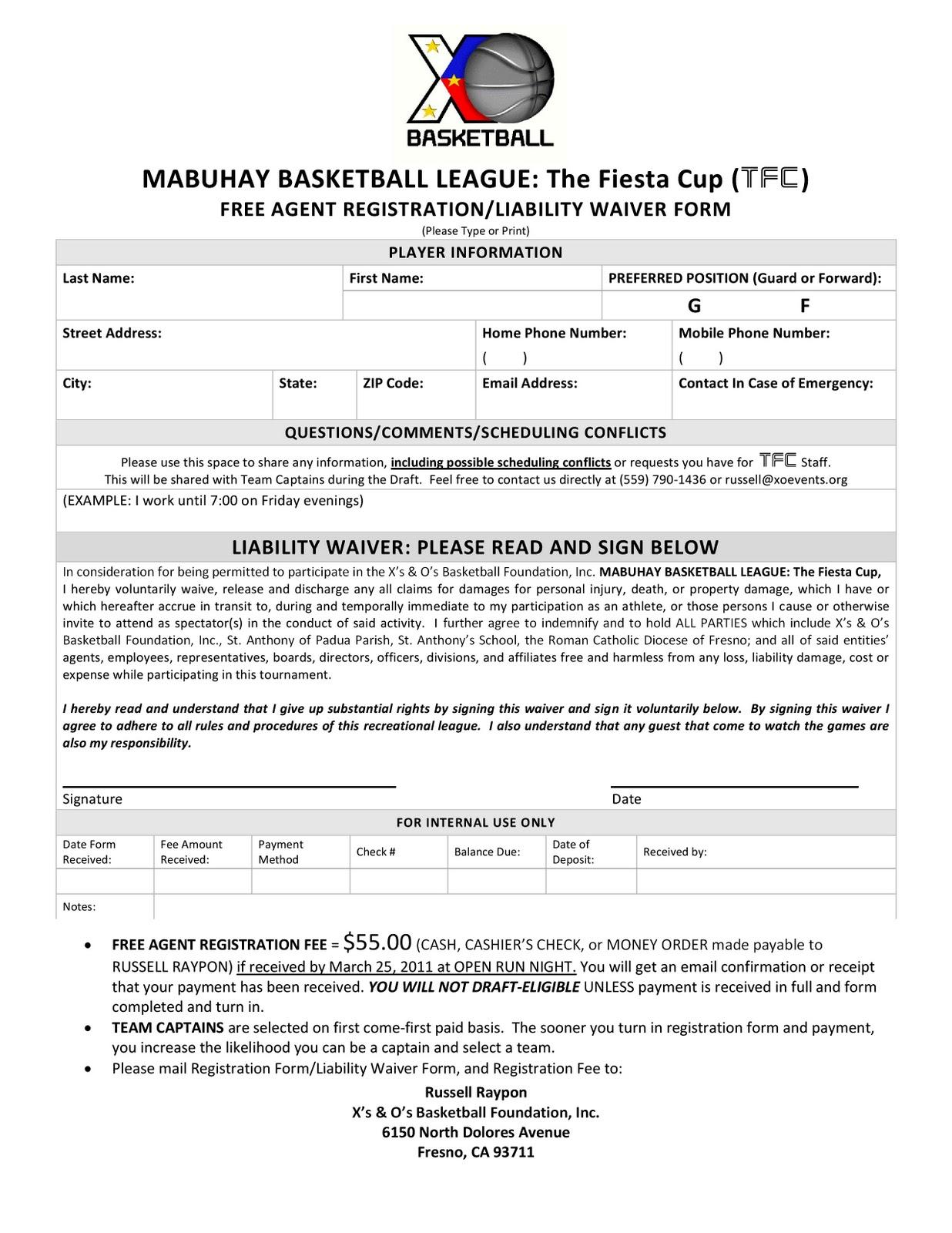 pin basketball registration form on pinterest. Black Bedroom Furniture Sets. Home Design Ideas