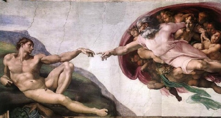 Adam and God Michelangelo