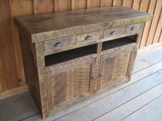 Genial Most Of The Furniture That Is Crafted Has Hand Hewn Lumber And Unique Custom  Inlays From The Mortise U0026 Tenon Of The Original Salvaged Barn Beams, ...