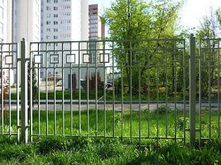Забор металлический из профильной трубы. Фото 6
