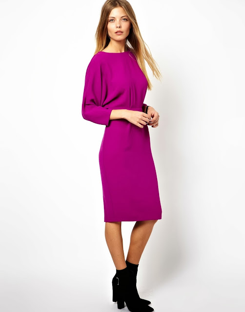 dress with batwing sleeves