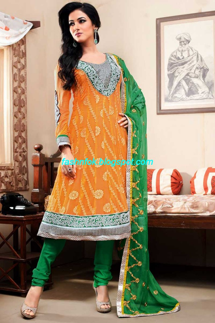 indian latest anarkali wedding frock suits collection 2013