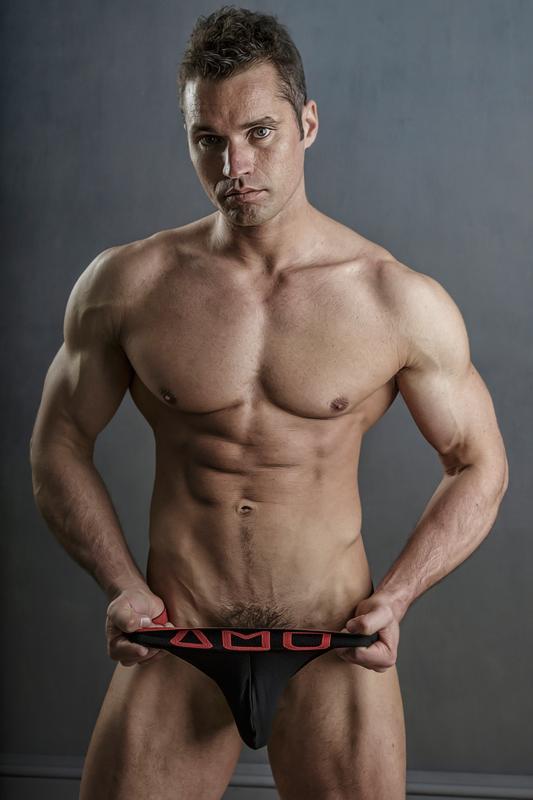 Fitness model Jamie B by photographer Steve France - AMU underwear