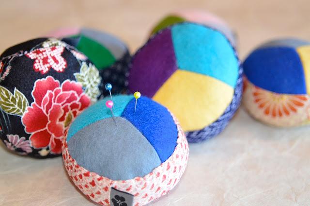 Nadelkissen Hariyama aus japanischen Stoffen, handmade, handgemacht, Unikat, Einzelstück