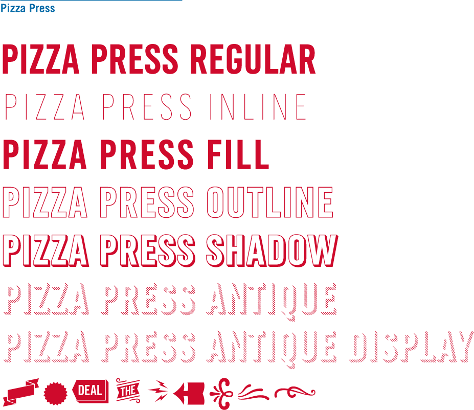 New Custom Type Family for Domino's Pizza by Monotype Studio