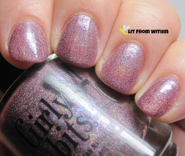 lighter plum base with lots of holo