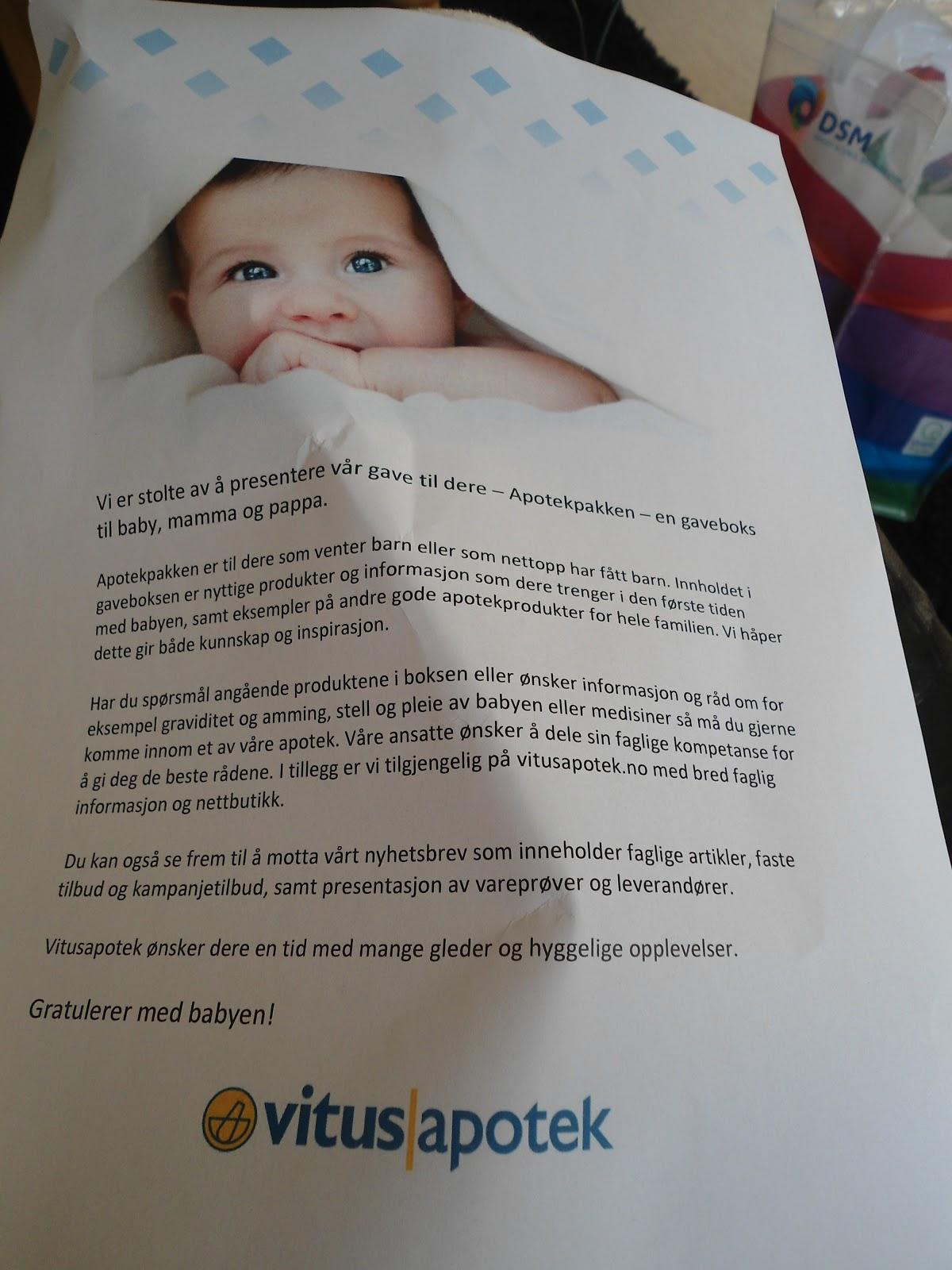 vitus apotek gratis baby pakke