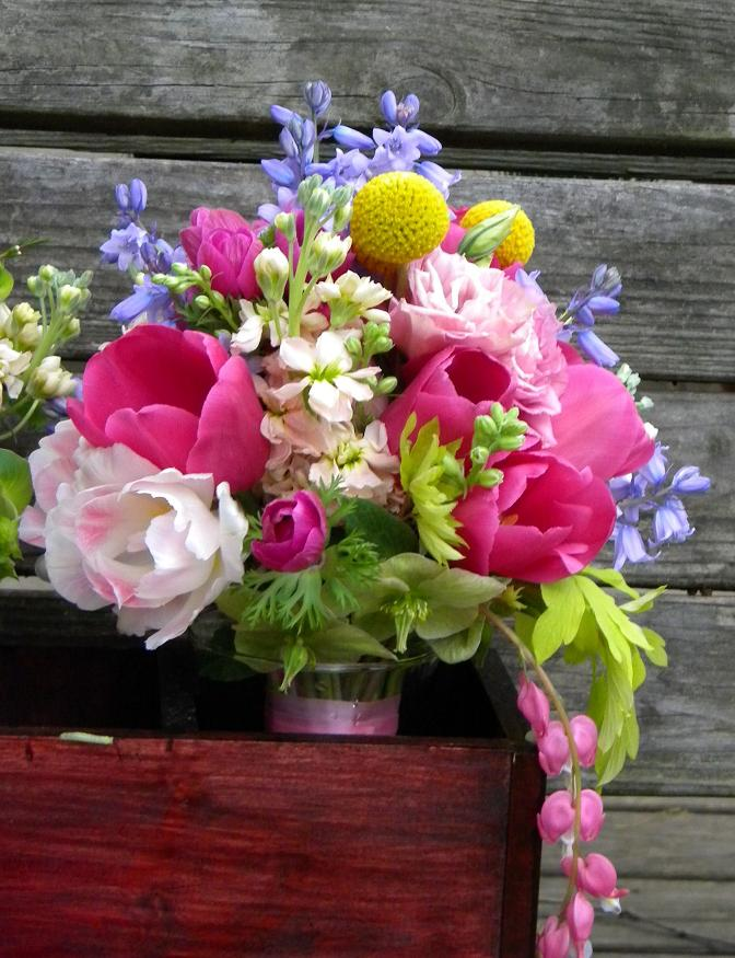 Wedding Flowers from Springwell: Spring Time Wedding Flowers in Hot Pink