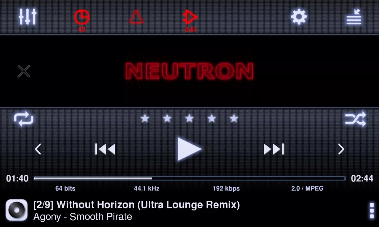 Preview Neutron Music Player Apk | andromin.com