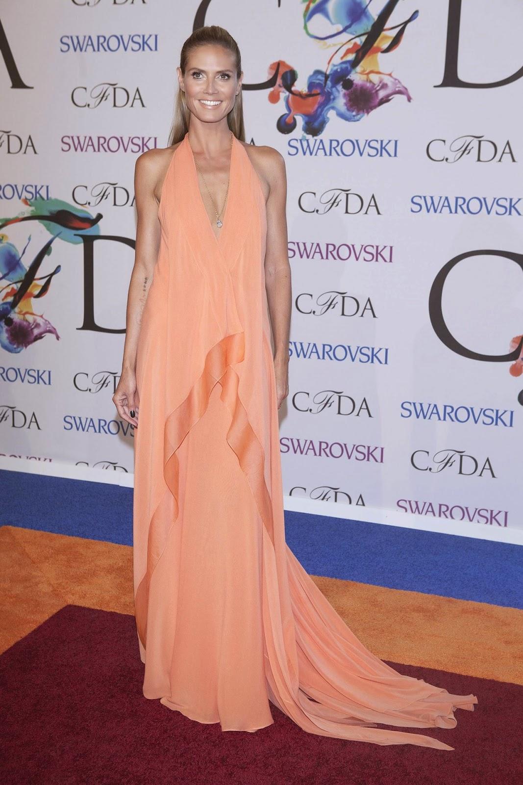Heidi Klum wears Donna Karan to the 2014 CFDA Fashion Awards
