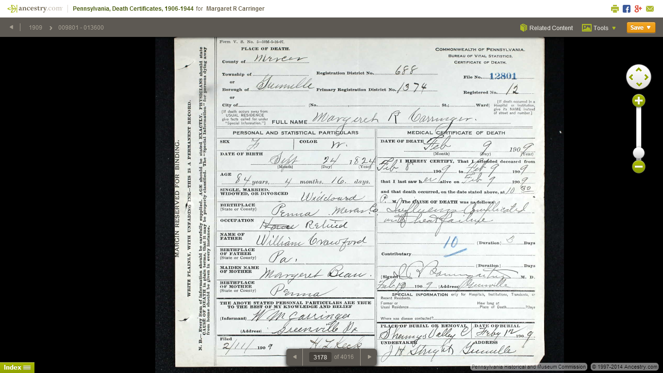 Genea musings finding genealogy gems in pennsylvania death when i first clicked on margarets certificate i did not know her maiden name or her death date i knew only that she was born in 1824 in pennsylvania aiddatafo Image collections