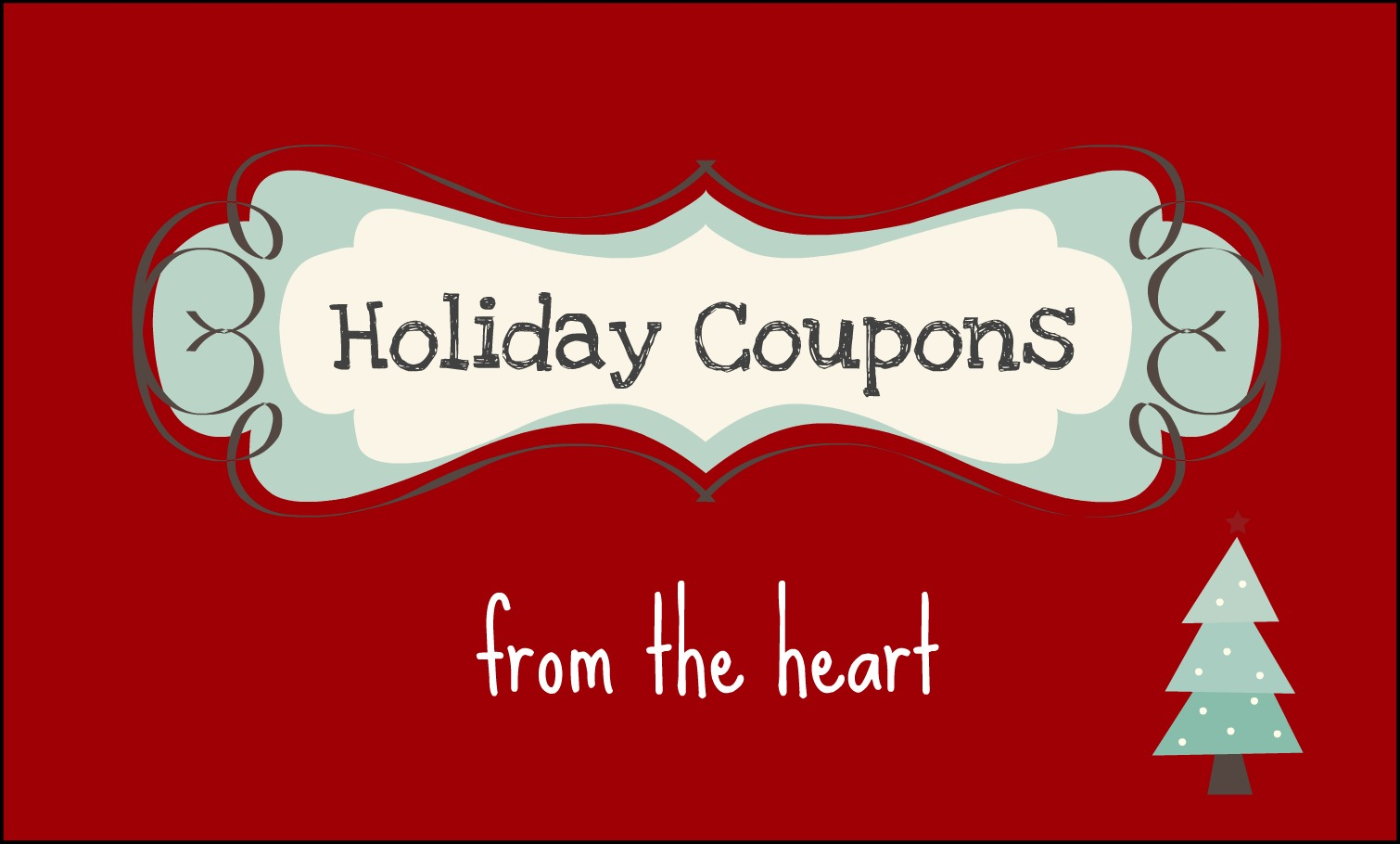 DIY Holiday Coupon Book  Christmas Coupons Template