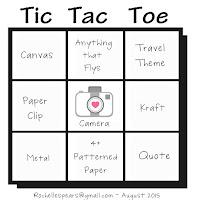 August Tic Tac Toe