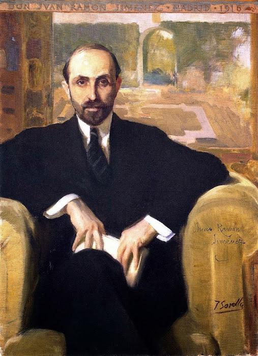 Juan Ramón Jimenez, Joaquín Sorolla, retratos, pintor Valenciano
