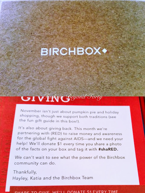 Birchbox November 2014 Review Fashion Beyond Forty