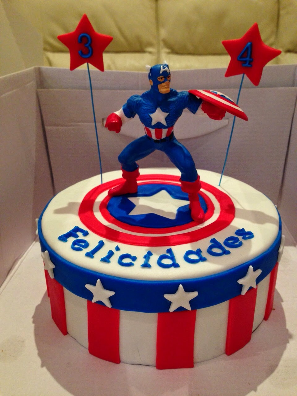 Ana Barta Resposteria Creativa Capitan America - Tartas-de-cumpleaos-para-adultos