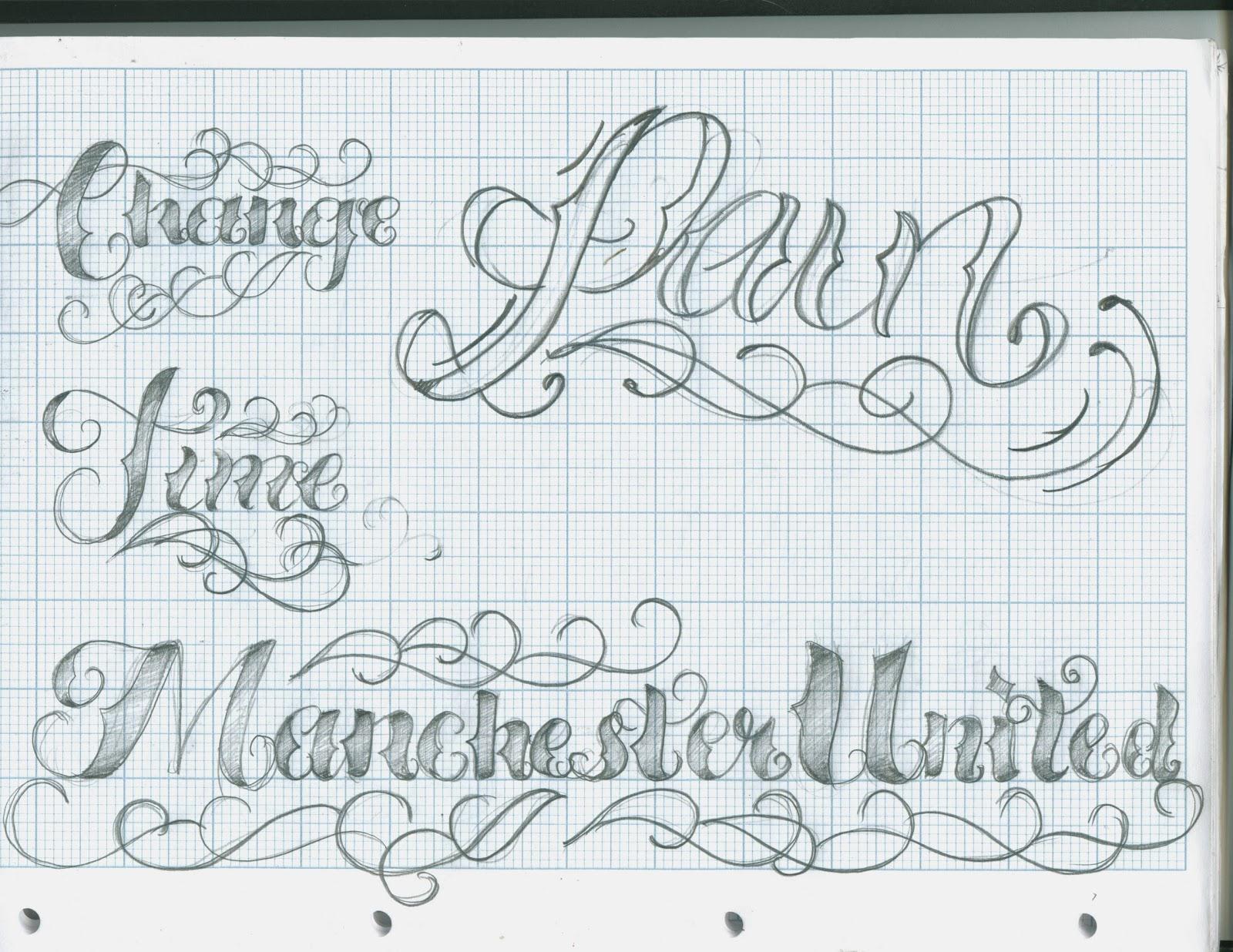 Tattoo Lettering Script