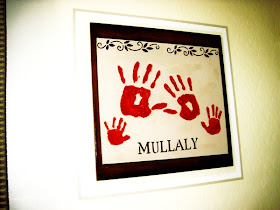 Family Handprint Keepsake Picture