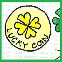 lucky coin, how to draw lucky coin, St. patruck's day
