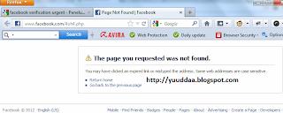 Facebook Verification Urgent! Telah Tumbang