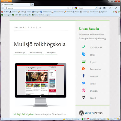 Screen shot of http://urre.me/.