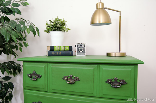 A boring dresser gets a bright and bold update!