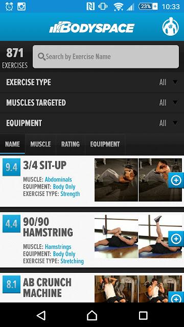 Aplikasi Bodyspace untuk panduan senaman