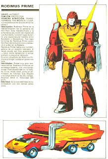 Rodimus Prime (ficha transformers)