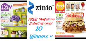 ♥Zinio Free Magazine Subscription Giveaway- 10 Winners!