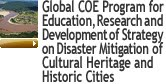 Global COE Program for Education, Research and Development of Strategy on Disaster Mitigation of Cultural Heritage and Historic Cities