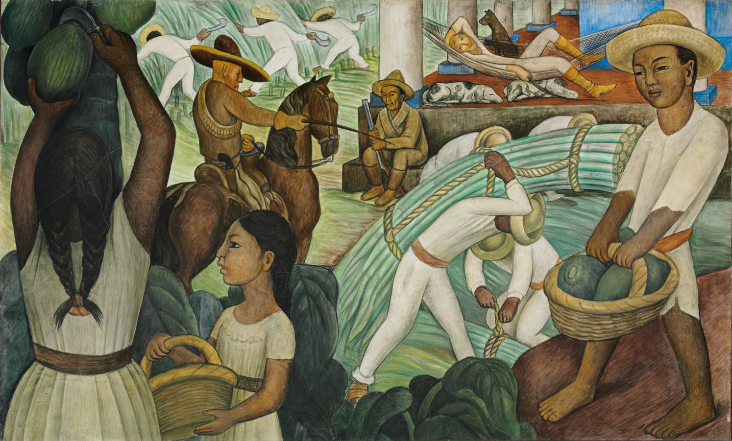 A place called space diego rivera murals for the museum for Diego riveras mural