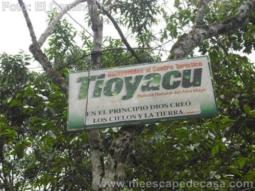Entrada al Recreo Turístico Naciente del río Tioyacu (Rioja, Perú)