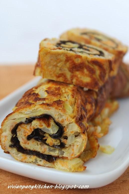 Vivian Pang Kitchen: Korean Rolled Egg Omelette