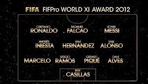 ONCE IDEAL DE LA FIFA 2012