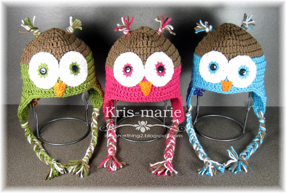 Crochet Pattern For Newborn Owl Hat : The Crafting Secretary: Crochet Owl Hats - Free Pattern