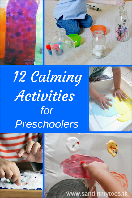 Twelve activity ideas that are perfect for calming your preschooler, whether after school or before bedtime. Suitable for toddlers too!