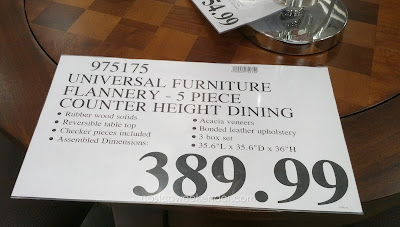 Deal for the Universal Furniture Broadmoore Flannery Counter Height Dining Set at Costco