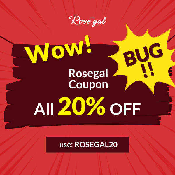 Wow! Rosegal Coupon Bug!!! ALL 20% OFF