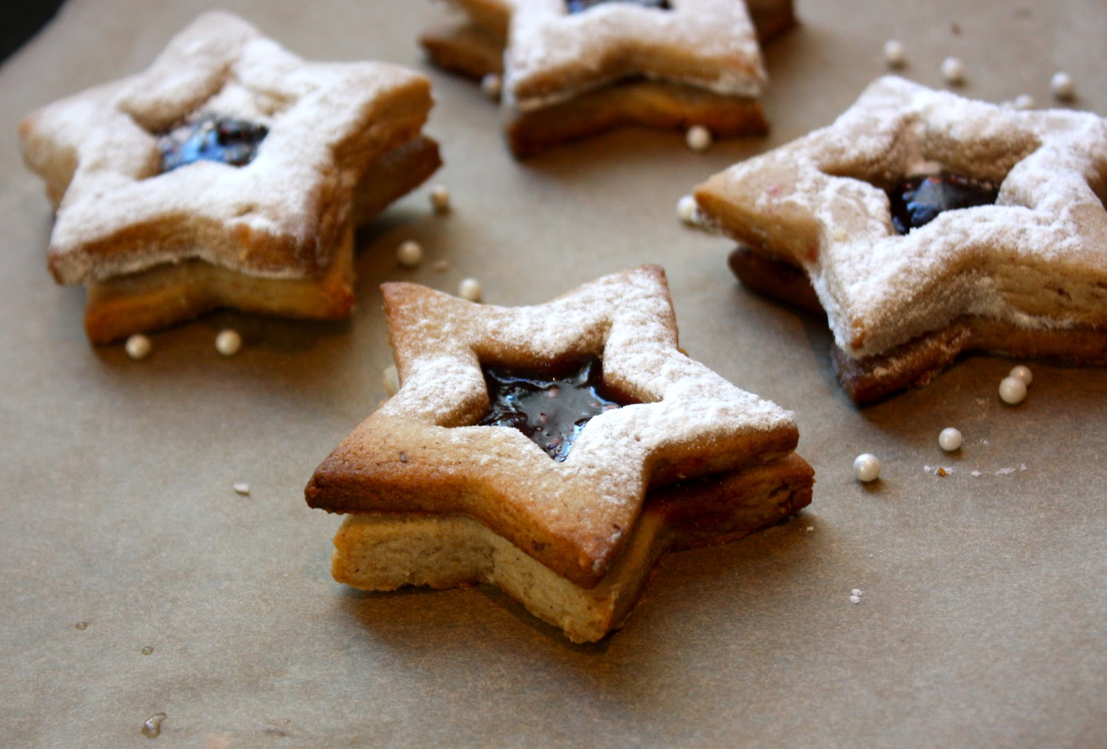 Cranberry And Raspberry Star Cookies Recipes — Dishmaps