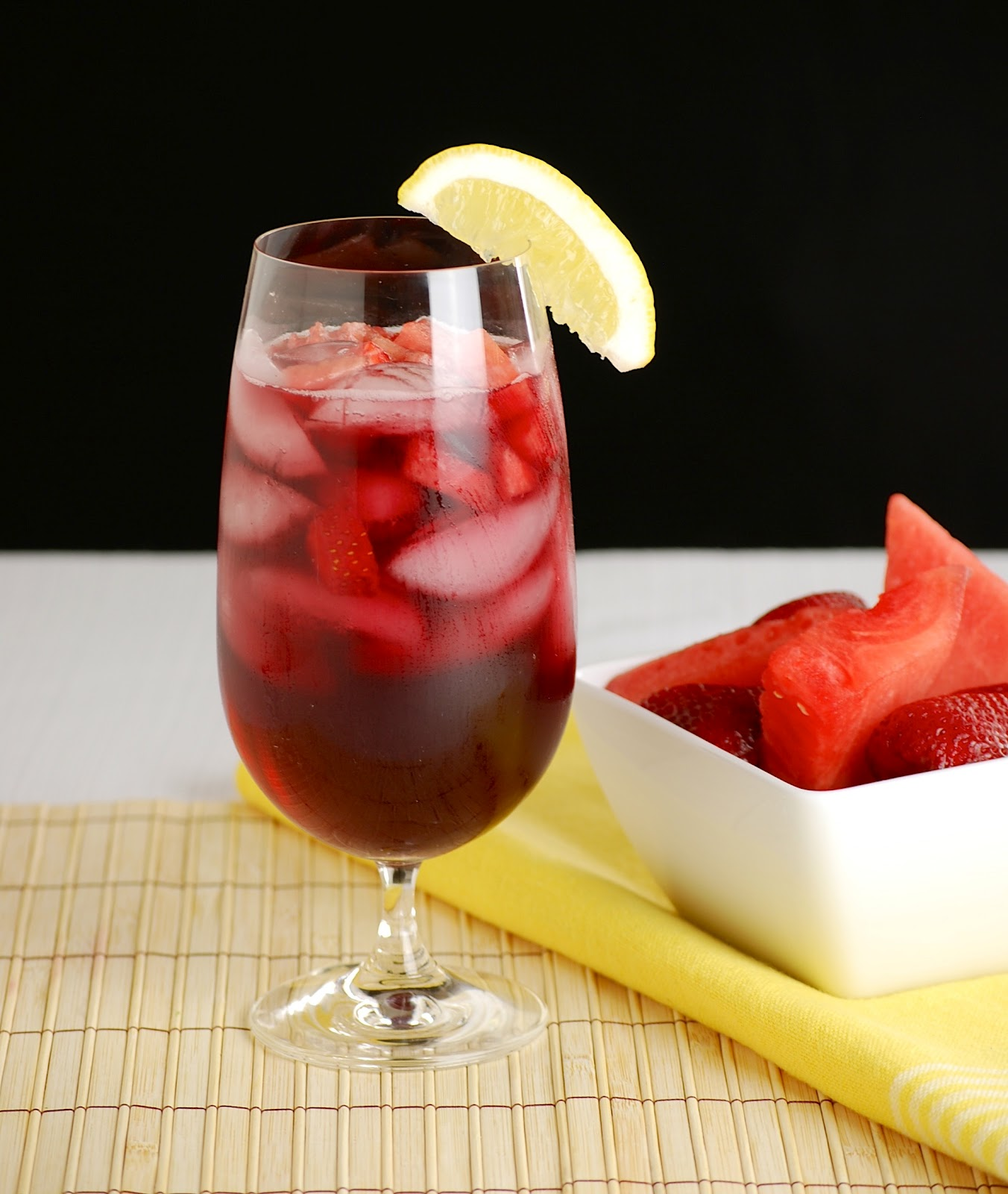 Sparkling Watermelon Sangria Recipe — Dishmaps