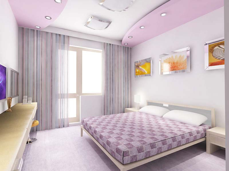 purple POP false ceiling designs for bedrooms with illuminating accessories  collection