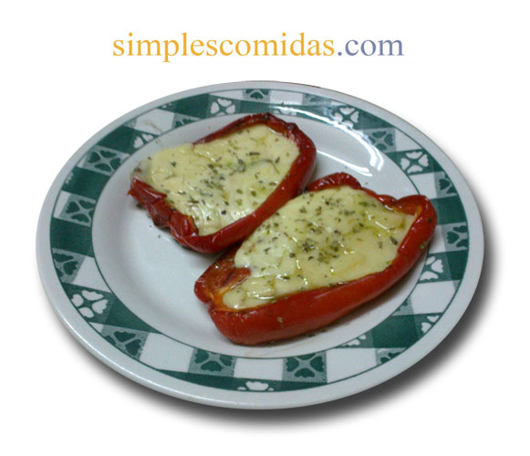 morrones a la parrilla con provolone
