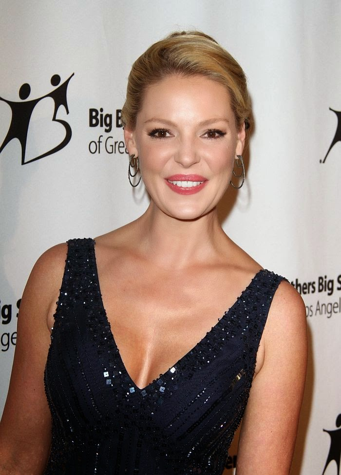 Unfortunately, wearing an expensive designer frock doesn't automatically make a person look good. But this would've worked so much better if the dress was straight into Katherine Heigl as she headed the Charity Gala at Los Angeles, USA on Friday, October 24, 2014.