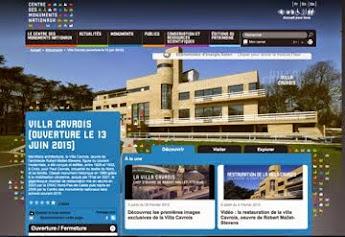 La Villa Cavrois sur le site du CMN