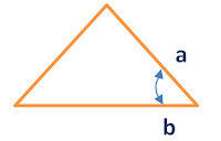 area of triangle given 2 sides and an angle