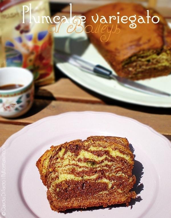 plumcake variegato al baileys