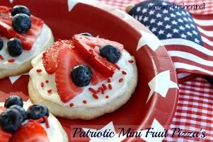 Red, White & Blue Mini Fruit Pizza's