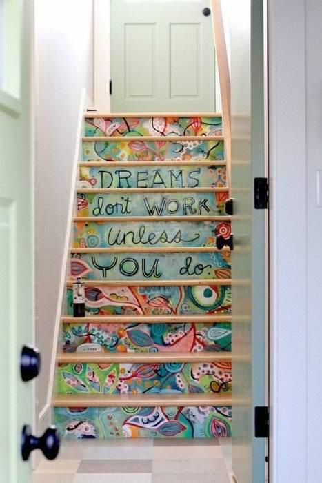 Escadas com imaginação