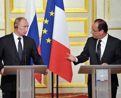 Hollande desarma a França e promete armamento a Putin