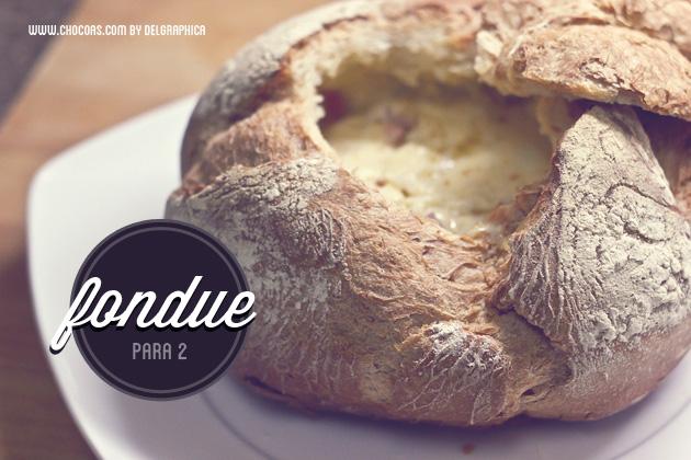 Fondue en pan redondo para 2